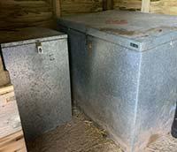 Galvanised Feed Storage Bin