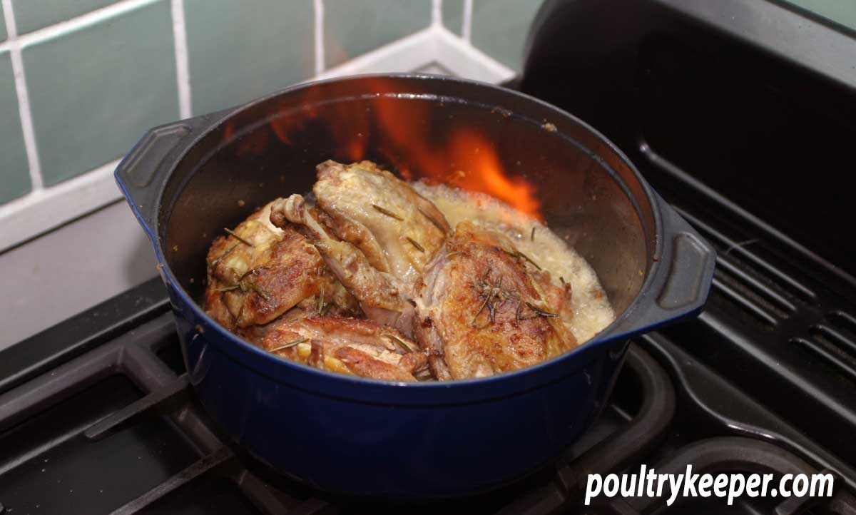 Guinea Fowl with Garlic and Rosemary