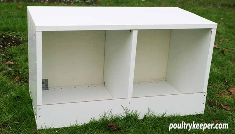 Nesting Box from IKEA cupboard
