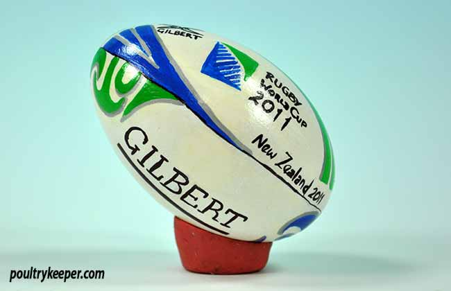 Rugby Ball Decorated Egg