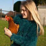Holding a Hybrid Chicken