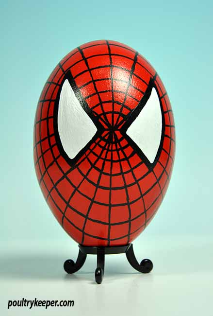 Spiderman Decorated Egg